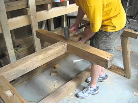 How To Build A Table With NO Power Tools (The Priceless Gift)