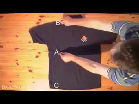 How To Fold a Shirt in less than 2 Seconds!